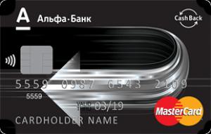 Внешний вид карты Cashback / Альфа-банк