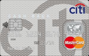 Внешний вид карты CASH BACK / Ситибанк